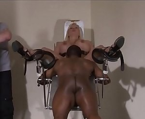 Slave Melanie Moons interracial doctors bdsm and medical pussy penalty of bus