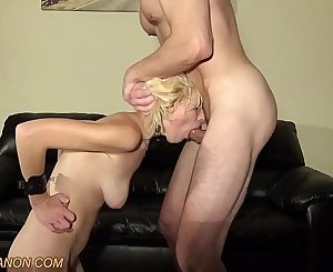 5'11 19 Yr Old Blonde Natalie ROUGHLY Face Fucked
