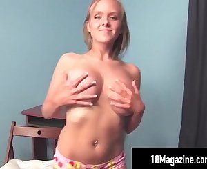 Busty Blonde Innocent Teen Brittany Strip Teases On Webcam!