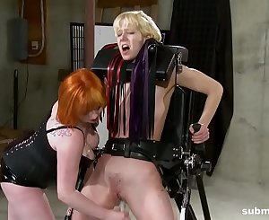 Lesbian stunner enjoys BDSM, spanking and ache from mistress