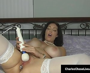 Cougar Charlee Chase Gets A Giant Orgasm With ButtPlug!