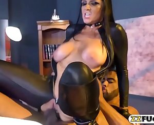 Chesty pornstar gets her pussy wrecked by big black cock